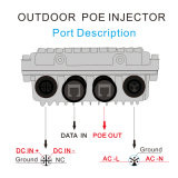 90W Midspans Outdoor Poe Grade Poe Injector 90W Linaer PSE Chip Based