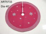"48"" Dia Snowflake Christmas Decoration Skirt for Tree"