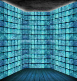 Toughened Safety Blue Cloudy Glass Block