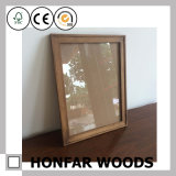 Rustic Brown Wooden Picture Photo Frame with 3mm Real Glass