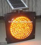 Solar Panel Polisilicon Yellow Traffic Light 95PCS LED Solar Warning Light Flashing Traffic Signal
