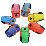 Nylon Breathable Wrist Pouch Phone Arm Bag with Earphone Hole