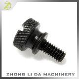 Black Zinc Plated Diamond Knurled Fixing Adjustment Thumbscrew Pulley