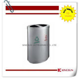 Oval Shape Garbage Can with Two Classified Box