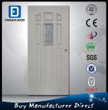 Fangda 9 Panels Modern Frosted Glass Steel Metal Prehung Door