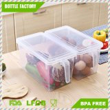 Independent Kitchen Refrigerator Food Fresh-Keeping Box with Lid Handle (Transparency)
