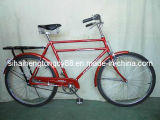 Red Traditional Bicycle with Double Bar (TB-018)