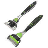 Five Blades Changeable Razor Head with Back Trimmer