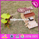 2017 New Products Indoor Children Toys Wooden Treehouse Dollhouse W03b059