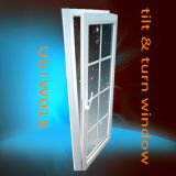 Single Pane PVC Tilt and Turn Window with Grills Design