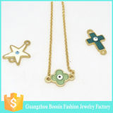2016 Trendy Inspired Religious Initial Gold Yoga Evil Eye Necklace