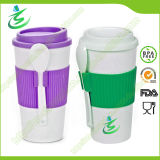 16 Oz BPA-Free Promotional Coffee Cup with Lid and Spoon