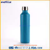 Wholesale Customized Various Size Blue Stainless Steel Water Bottles