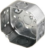 4 in. Steel Octagonal Ceiling Box, 1-1/2 in. Deep, cUL Listed