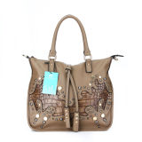 Exquisite Stud Crocodile Leather Lady Fashion Handbags (MBNO036069)