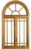 American Style Solid Red Oaken Wood Casement Window