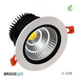 30W Aluminum Housing COB LED Recessed Downlight with 140mm Hole Size