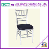 Wedding Acrylic Resin Chiavari Chair with Black Cushion