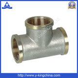 Nickel Plated Forged Brass Three Tee (YD-6035)