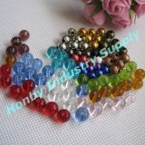 Fashion 8mm Round Shape Crystal&Metal Jewelry Loose Beads