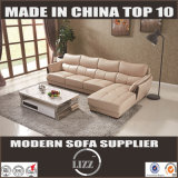 Living Room Leather Sofa with Chaise (Lz997)