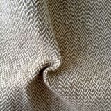 Hot Sale Antique Hemp Fabric in Herringbone Pattern (QF13-0113)