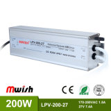 27V 200W AC to DC SMPS IP67 Aluminium Waterproof LED Driver