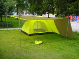 3-4 Person Doble-Skin Camping Tent with a Wing