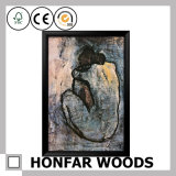 Impressionist Decoration Painting with Wood Frame for Wall Decor