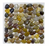 Factory Sale Mixed Polished Pebble Mosaic Tile Garden Path Pebble
