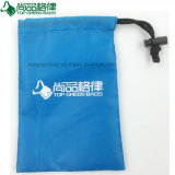 Polyester Drawstring Bag Pull String Pouch with Spring Fastener Closure