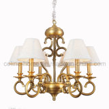 Antique Brass Iron Chandelier with CE