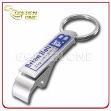 Custom Screen Printed Nickel Plated Metal Bottle Opener Keychain