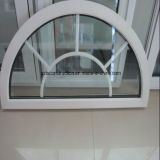 Double Glazing Arched UPVC Windows with Grille