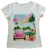 New Design Car Girl T-Shirt in Fashion Kids Clothes Sgt-059