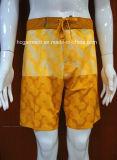 Polyester Print Surf Shorts Pants Swimwear Beachwear for Men