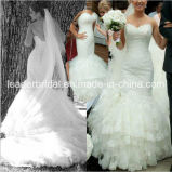 Beads Lace Bridal Gowns Mermaid Juliet Tulle Wedding Dresses Z2047