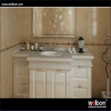 Welbom European Style Solid Wood Mirrored Bathroom Vanity Cabinet