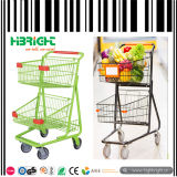 Double Basket Supermarket Shopping Trolley Cart