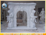 Stone Statue Carved Roman Greek Fireplace Surrounds