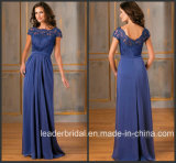 Cap Sleeves Blue Mother Party Prom Formal Gown Long Evening Dresses B1450