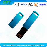 Blue Mini Metal USB Flash Drive with Customized Logo (EM603)