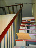 The Interior Titanium Steel Wooden Stairs