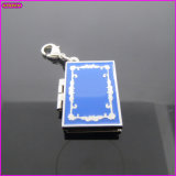 European Classical Blue Magic Book Metal 3D Charm (17226)