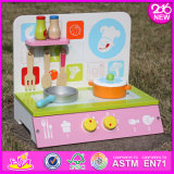 2016 New Design Kids Wooden Kitchen Set, Top Fashion Children Wooden Kitchen Set, Wholesale Baby Wooden Kitchen Set W10c185