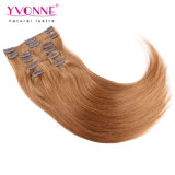 Color 30 Peruvian Straight Clip in Hair Extension