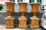 Yellow Marble Planter Stone Planter Garden Pots MP-020