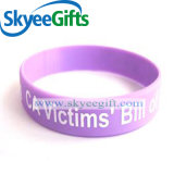 Colorful Silicone Wristband Embossed with Logo
