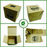 Brown Kraft Paper Tuck Top Corrugated Box with Custom Printed