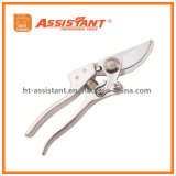 Garden Shears Chrome Plated Bypass Pruners with Forged Aluminum Handles